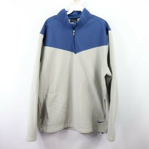 Nike Golf Victory Half Zip Pullover Jacket Gray XL